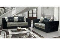 New lilly crushed velvet sofas