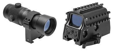 NcStar Q.D. Reflex Sight w/ Integral Laser + 3x Magnifier