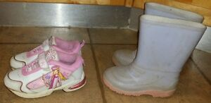Size 12 Rubber Boots & Barbie Runners