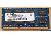ELPIDA 1x 2Rx8 PC3-10600S 2GB RAM chip