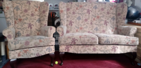 TWO SEATER SETTEE AND 2 ARMCHAIRS