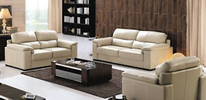 Genuine Leather modern sofa love seat or chair