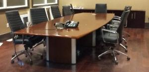 EXECUTIVE BOARDROOM TABLE - SOLID WOOD