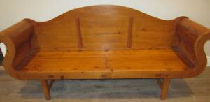 Antique Pine Bench Circa 1880-1890's