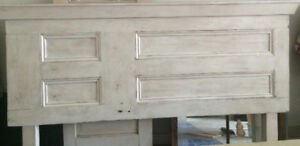 Rustic Custom Handcrafted Barn Door Headboard