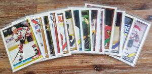 À vendre Carte Hockey Lot de 15 cartes Topps 1991-92