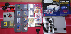 NES Nintendo in Box + 17 games and xtras