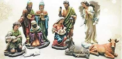 Nativity Set 18 inch Statues Colored Old World Durable Indoor Outdoor Resin
