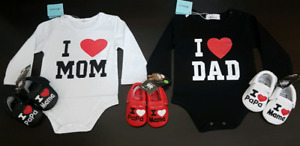 """I ♥Mom & Dad"" (0-6 Months); $25 Set; Brand New"