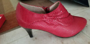 Women's Red ankle boots for sale