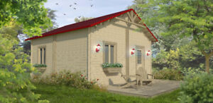 Chalet en kit - Le pavillon - 16' x 20' 4 saisons