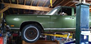 1969 Plymouth Satellite 4 door for Parts or Restore