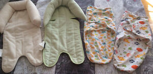 Head support and swaddle