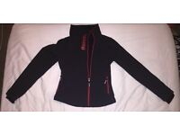 LADIES BLACK AND RED BENCH JACKET SIZE M