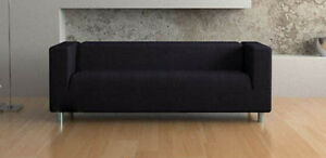 New Modern Black Sofa (Can Deliver)