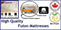 High Quality Futon Mattresses! Cotton Layers! TAX INCLUDED