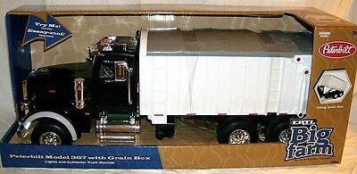 Ertl 1 16 Big Farm Peterbilt 367 Grain Box Truck Black