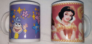 Dora with Boots & 4 Disney Princess Coffee Cups / Mugs London Ontario image 1