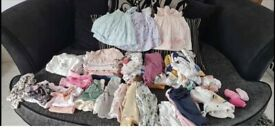 Baby girls clothes bundle newborn and up to one month