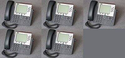 Lot Of 6 Cisco Cp-7960g Ip Phone 7960 Voip Business Phone Handsets