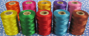 10 Strong Nylon Sewing Thread Spools *Large 200meters Heavy Duty Thread Spools
