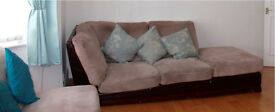 Corner sofa, or can split into two sofas with cushions