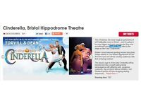 Cinderella tickets x 2 staring Torvill&Dean