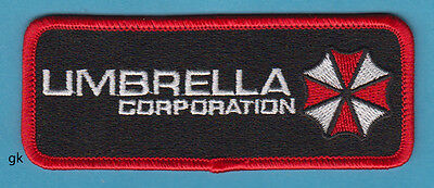 RESIDENT EVIL UMBRELLA CORP. TAG  PATCH ( RED/BLACK)