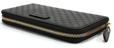 GUCCI Micro-Guccissima GG Zip-Around Leather Wallet (449391, Dark Brown) $795