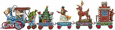 Jim Shore Holiday Express 5-Piece Mini Train Set - NIB #4036686
