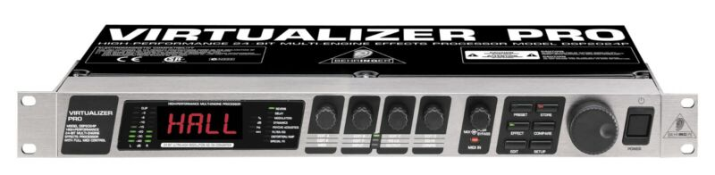 Behringer DSP 2024 Virtualizer Effects Processor Reverb and Delay