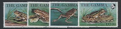 WILDLIFE - GAMBIA 1982 FROGS SET MNH SG.484-87 (REF.B18)