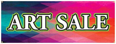 Art Sale Banner Craft Show Artist Art Supply Store Sign 18x48