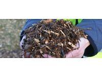 Woodchip mulch/bark chippings (garden, plants, hens, trees)