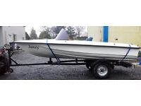 12ft DINGHY - FISHING BOAT Including Trailer