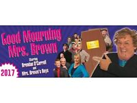 LOOK TICKET FOR GOOD MOURNING MRS BROWN LIVE AT METRO ARENA