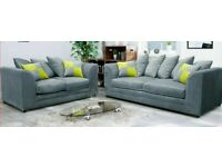 JJ Plush Velvet Fabric Chicago Corner / 3 / 2 / Swivel Sofa Grey Cato