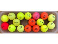 17 Hi-vis Golf Balls.
