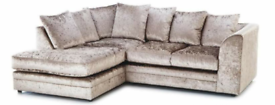Brand new Sofas in Crushed velvet in Mink, Black and Silver