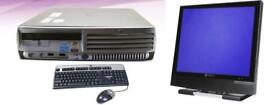 Cheap FULL HP Desktop PC Setup - Ultra Small USFF Windows 7 with Monitor Keyboard & Mouse Office