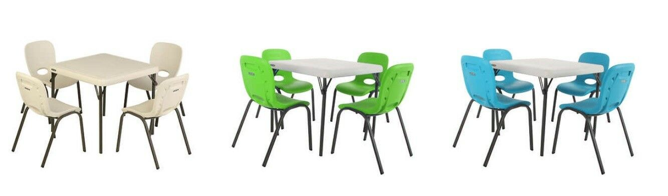 Lifetime Kids Table with 4 Almond Chairs, Free Shipping