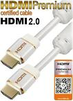 HDMI Premium 2.0 with Ethernet kabel 1,5m wit