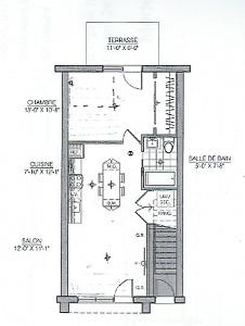 Brossard 3 1/2 neuf, électros, AC,stationnement intérieur inclus