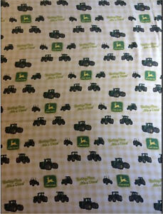John Deere Twin fitted and flat sheets