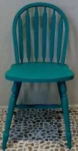 2 Ralph Lauren Blue Crab Arrow Back Chairs Vintage Antique