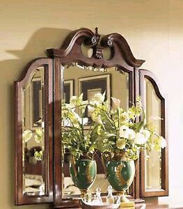 Cherry Dresser with Triple Mirror