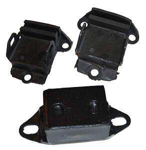 Small Block Chevy Engine Trans Mount Set Rubber Side Mount