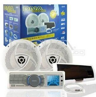 Complete Bluetooth Marine Audio Package WCMA4BP