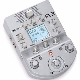 Zoom A3 Acoustic Preamp and Effects Pedal