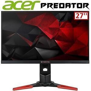 REFURB ACER PREDATOR MONITOR 27'' XB271HU 134368062 WIDESCREEN DISPLAY IPS GAMING COMPUTER PC SCREEN REFURBISHED
